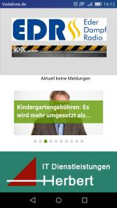 Ihre Homepage App mit Icons und Werbung