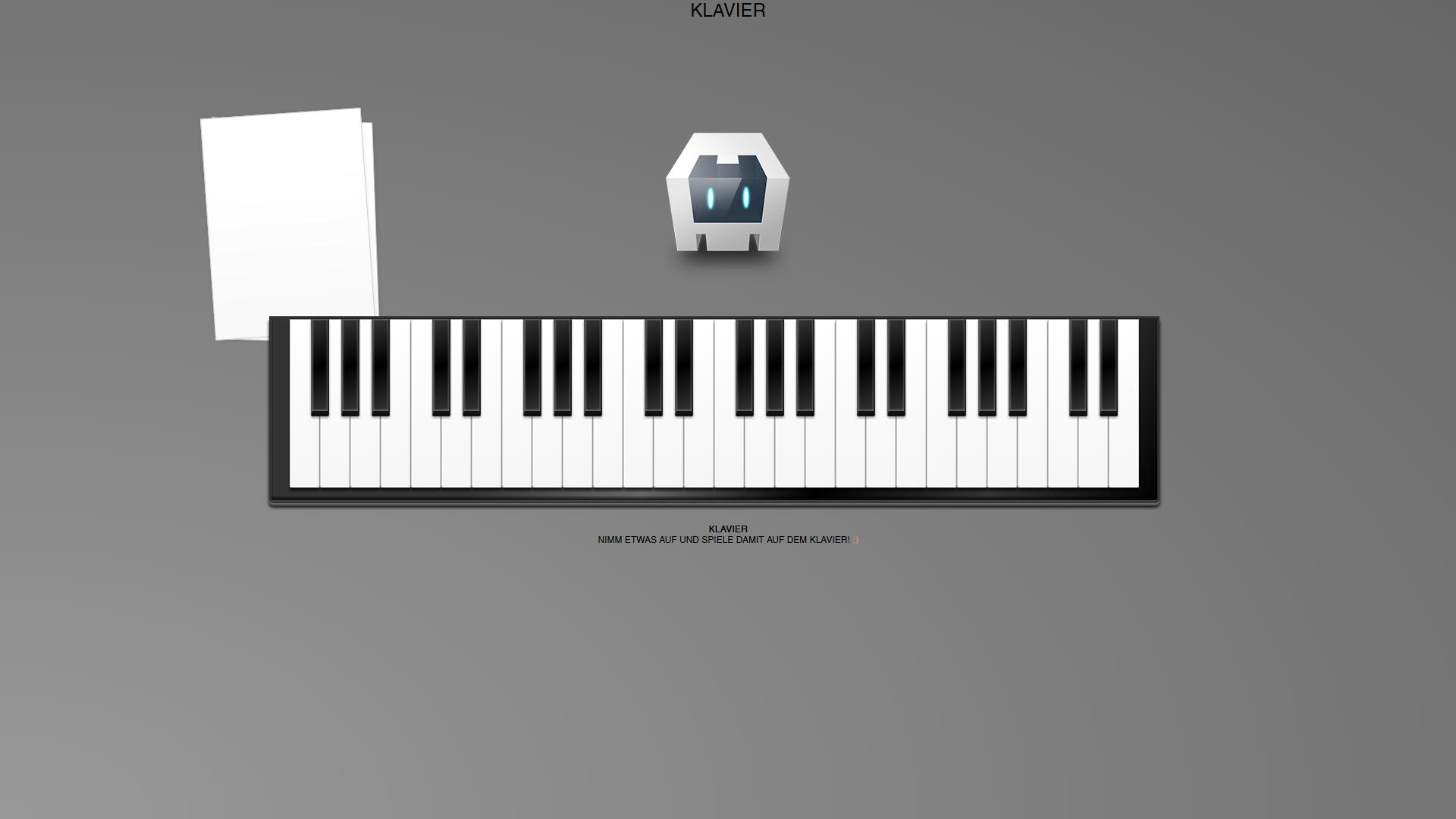 Klavier App in der Browser Vorentwicklung